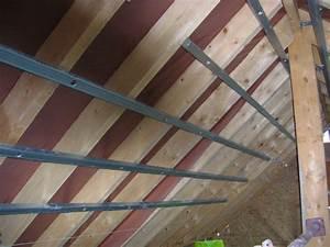 Pose De Placo Sur Rail : comment installer l 39 ossature sous toiture pour met ~ Carolinahurricanesstore.com Idées de Décoration