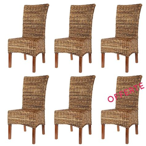 chaise rotin conforama lot 6 chaises en abaca elips chaises en abaca lot