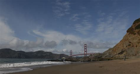 Famous Golden Gate Bridge, San Francisco Bay, Baker Sandy