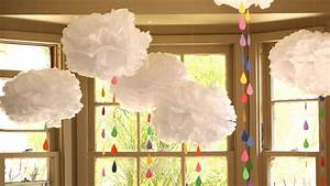 How to Make Tissue Paper Clouds - YouTube