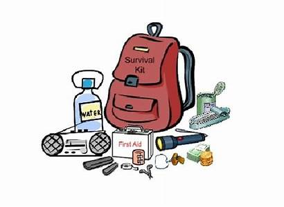 Survival Kit Clipart Earthquake Preparedness Cliparts Emergency