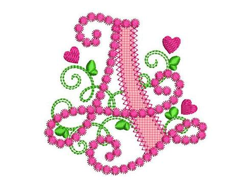 letter  applique machine embroidery design monogram initials valentines day applique dl