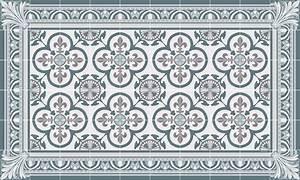 Tapis Vinyl Carreaux De Ciment Pas Cher : tapis vinyle carreaux de ciment garance bleu gris ~ Preciouscoupons.com Idées de Décoration