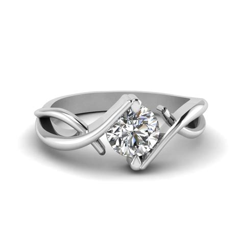 Pear Shaped Diamond Serenity Solitaire Ring In 14K Yellow Gold   Fascinating Diamonds