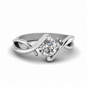 beautiful twist single diamond engagement ring in 950 With single wedding ring