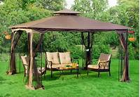 best patio tent gazebo Patio Gazebo Canopy + Mosquito Netting 10x12 Patio Garden ...