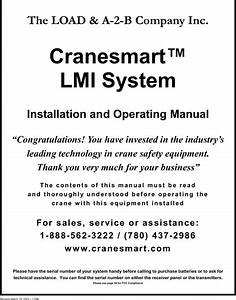 Cranesmart Systems Lab110 Load Moment Indicator User