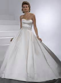 Satin Ball Gown Wedding Dresses