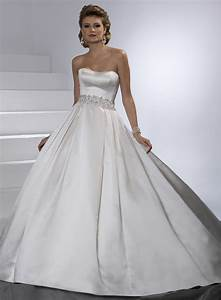 Graceful satin ball gown wedding dresses sang maestro for Satin ball gown wedding dress