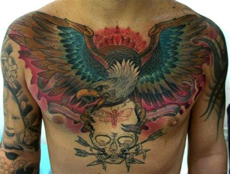 54 Classy Eagle Bird Tattoos On Chest
