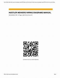 Hustler Mowers Wiring Diagrams Manual