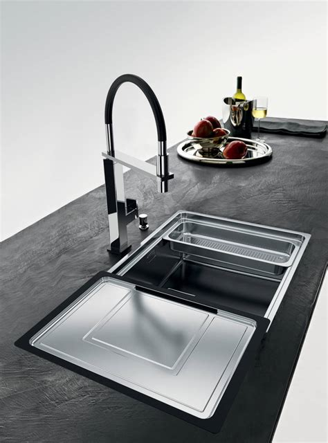 undermount kitchen sinks with drainer designer drainers from franke the kbzine 8731