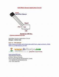 Hall Effect Sensor Ah34 Application Circuit  Onlinetps Com