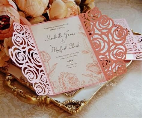 roses wedding luxery card template cutting file  svg