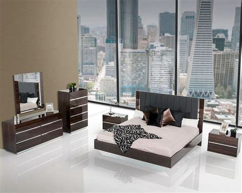 contemporary luxury ebony lacquer bedroom set bset