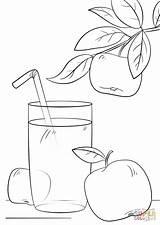 Juice Coloring Colouring Apple Clipart Manzana Jugo Fresh Dibujos Applesauce Colorear Printable Apel Mewarnai Gambar Buah Ausmalbilder Frutas Picolour Ausmalen sketch template