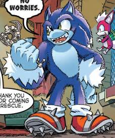 Sonic Werehog Transformation Comic