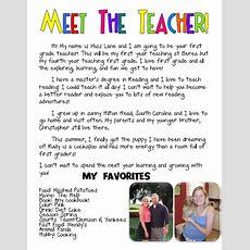 Meet The Teacher Bio  Such A Cute Idea  Kindergarten  Pinterest  More Teacher And Met Ideas