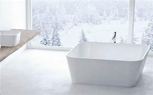 Baignoire A Poser : baignoire a poser carre design chez marmorin ~ Edinachiropracticcenter.com Idées de Décoration