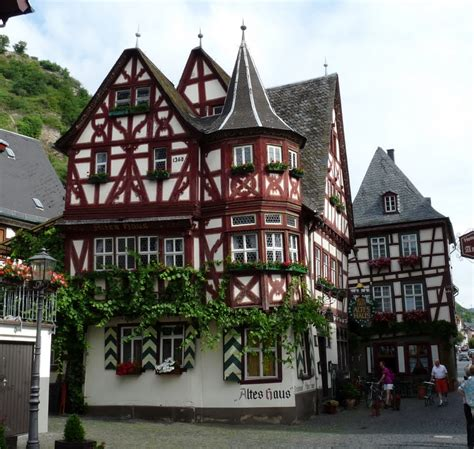 Panoramio  Photo Of Bacharachdas älteste Haus In Deutschland