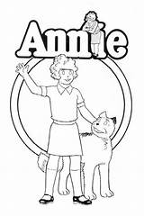 Annie Coloring Pages Orphan Musical Theatre Theater Drawing Printable Sheet Armstrong Costume Broadway Sheets Friends 1979 Sandy Getcolorings Colouring Eric sketch template