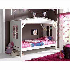 Lit Enfant Cabane : lit enfant cabane home blanc ~ Teatrodelosmanantiales.com Idées de Décoration