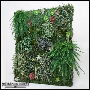 Replica Plant Green Wall, Faux Grass Artificial Plants