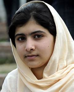 Malala Yousafzai in March 2012.