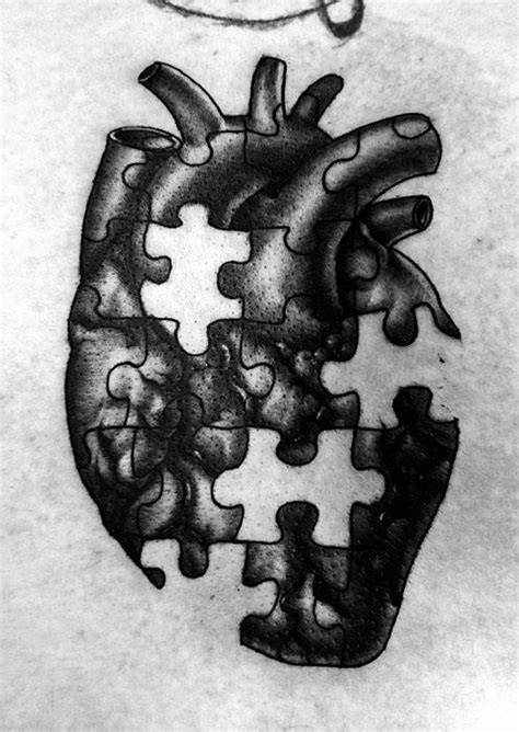 Missing pieces of my heart.... | Puzzle tattoos, Tattoos, Heart tattoo designs