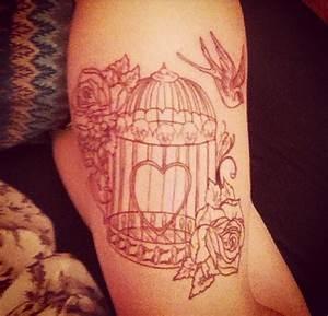 Birdcage tattoo | Random | Pinterest | The skulls, Birds ...