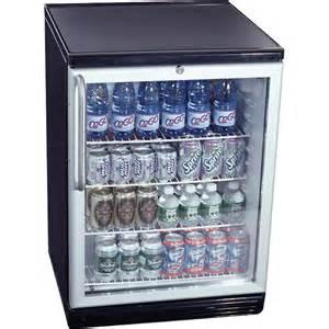 summit glass door built in under counter beverage