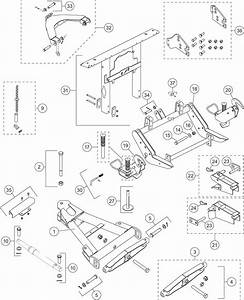 Pro Plow Series 2 Ultramount Lift Frame And A Frame Diagram