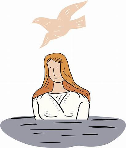 Baptism Clipart Ritual Water Ceremony Adult Baptized