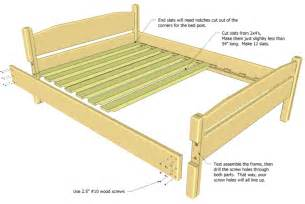 Bamboo Headboard And Footboard by Twin Bed Frame Plans Diy Woodworking Projects