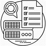 Icon Project Task Summary Executive Professional Business
