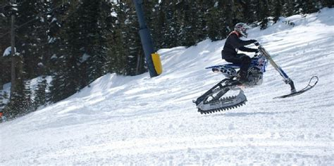 motocross snow bike convert your dirt bike into a snowbike motosport