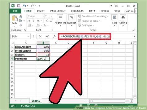 Amortization Table Excel - how to prepare amortization schedule in excel 10 steps