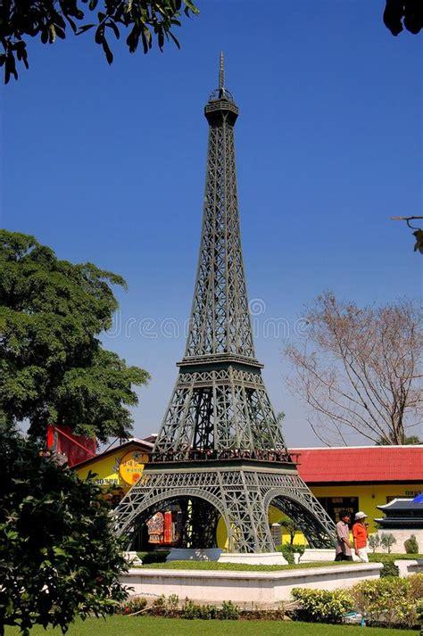 eiffel tower replica  mini siam stock image image