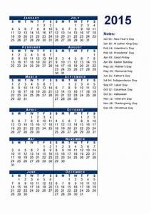 2015 yearly calendar template 12 free printable templates With 2015 yearly calendar template