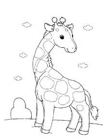 Giraffe Baby Animal Coloring Pages