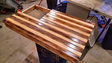Below table is one of sample hand torching is an easy method that commonly used to give burned looks on wooden american flag coffee table. Conceal Weapon American Flag - by Alvarez @ LumberJocks.com ~ woodworking community