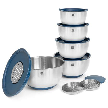 mixing bowls stainless steel kitchen lids choice measuring graters slip units non base walmart bowl plastic