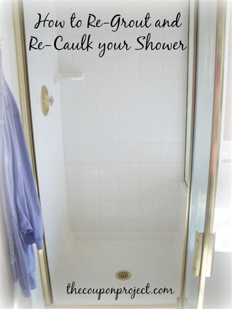 how to re grout and re caulk your shower you can do it