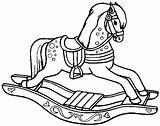Coloring Pages Horse Rocking Horses sketch template