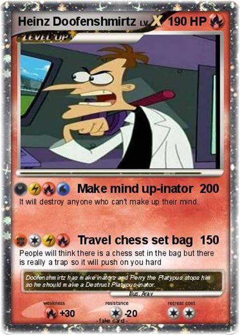 Pokémon Heinz Doofenshmirtz 12 12  Make Mind Upinator