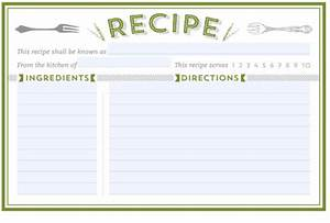 300 free printable recipe cards With 5x7 recipe card template for word