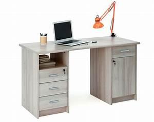 scrivania da ufficio con cassetti e anta imitazione legno With scrivanie con cassetti