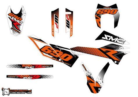 ktm 690 smc r apex decal kit crispy designs