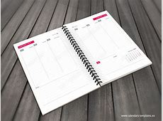 Daily Planner Template in PDF and InDesign format for 2019