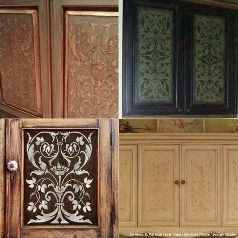 glass door kitchen cabinet ideas 20 diy cabinet door makeovers with furniture stencils